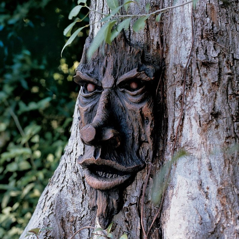 Design Toscano The Spirit Of Nottingham Woods Greenman Tree Garden Statue