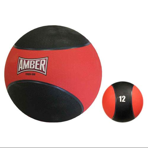 Orange Rubber Fitness Medicine Ball w 12 lbs. Weight