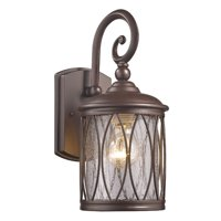 """CHLOE Lighting DINADAN Transitional 1 Light Rubbed Bronze Outdoor Wall Sconce 13"""" Height"""