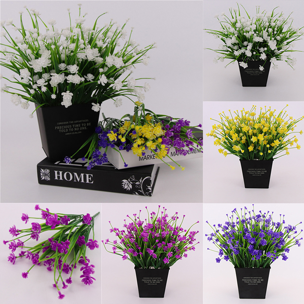Heepo 1 Bouquet Artificial Camellia Fake Plant Home Hotel Wedding Party Decoration