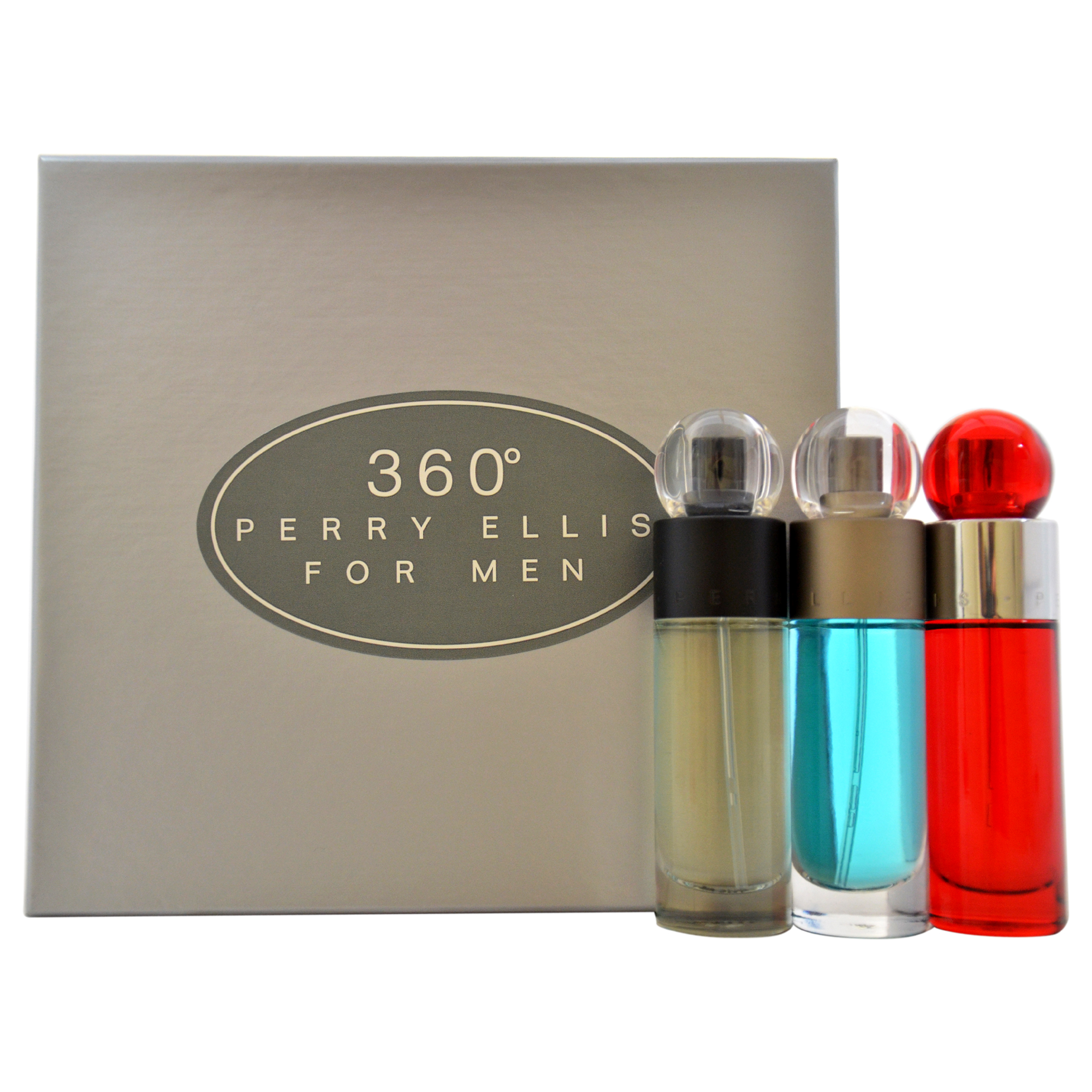 360 by Perry Ellis for Men - 3 Pc Gift Set 360 1oz EDT Spray, 360 Red 1oz EDT Spray, Reserve 1oz EDT Spray