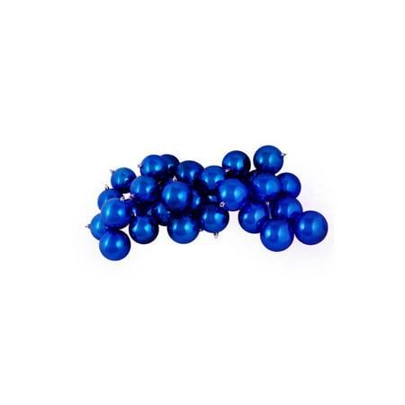 60ct Shiny Lavish Blue Shatterproof Christmas Ball Ornaments 2.5