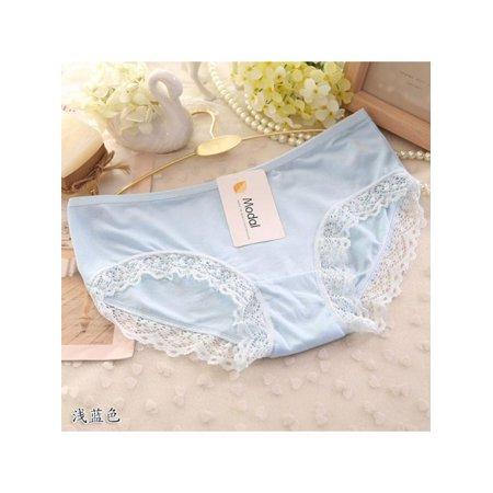 cc0af3dbf0be dailymall - Women's Fashion Sexy Ladies Low-Waist Lace Briefs Bamboo Fiber  Solid Color Breathable Slim Underwear Panties Knickers - Walmart.com