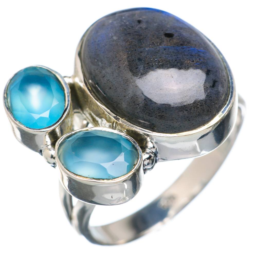 Ana Silver Co Labradorite, Aqua Chalcedony Ring Size 8.5 (925 Sterling Silver) Handmade Jewelry RING883121 by Ana Silver Co.