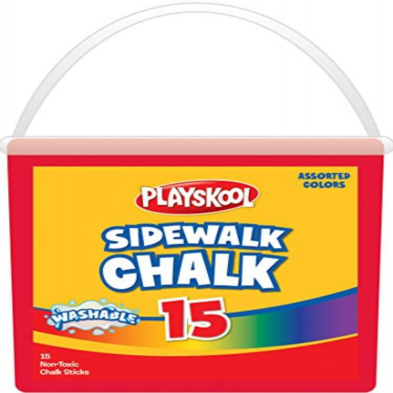 Playskool 15-Count Sidewalk Chalk Tub by