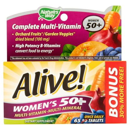 Nature's Way Vivant! Femmes 50+ complète multivitamines Multi-minéraux 65 comprimés