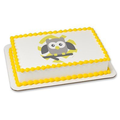 1/4 Sheet - Baby Owl Baby Shower - Edible Cake/Cupcake Party Topper!!! (Owls Baby Shower)