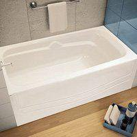 Avenue 105524 000 001L Alcove Bathtub 60 In L X 30 In W X 21 In H 46 Gal Ca
