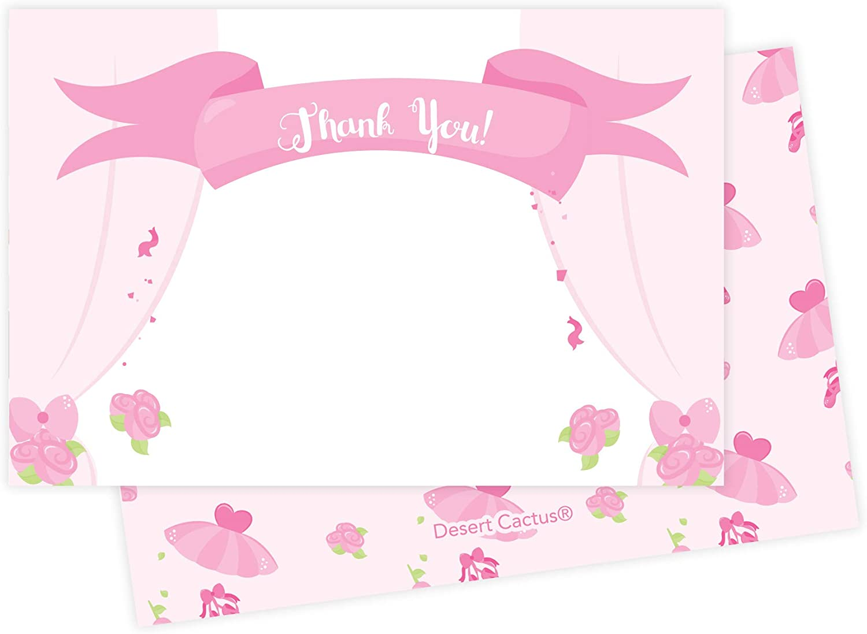 4x6 Ballerina Blank Card Pack of 5