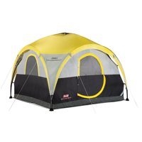 Coleman 2 in 1 All Day Shelter and 4 Person Tent, Yellow & Black