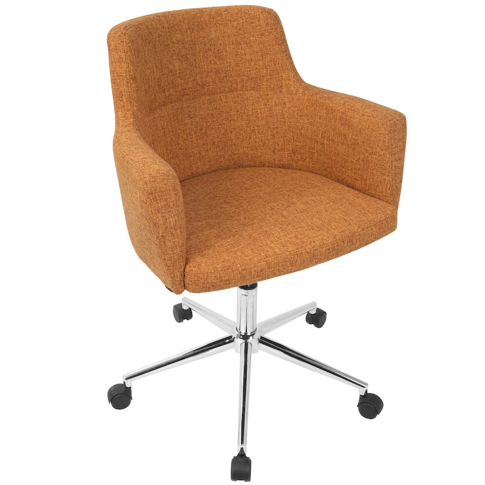 Andrew Contemporary Adjustable Office Chair in Orange by Lumisource by