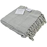 Stonewashed Turkish Towel InfuseZen Unique Thin Absorbent Bath Towel Beach Towel and Pool Towel Large Cotton S