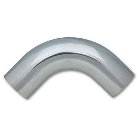 Vibrant Performance 2876 Air Intake Tube Fabrication Components 4 Inch Outside Diameter; 90 Degree Elbow With 5 Inch Center Line Radius; 2-1/2 Inch Leg Length; Polished; Silver; Aluminum - image 1 of 1