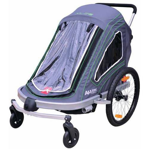 Allen Sports XLZ2 2-Child Trailer/Single & Double Swivel Wheel Stroller