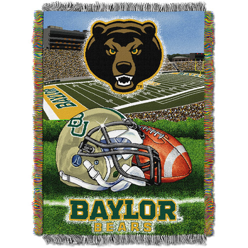 "NCAA 48"" x 60"" Tapestry Throw Home Field Advantage Series, Baylor"