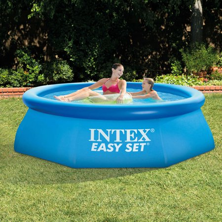 Intex 16 X 8 X 42 Rectangular Prism Frame Above Ground Swimming Pool With Filter Pump 279