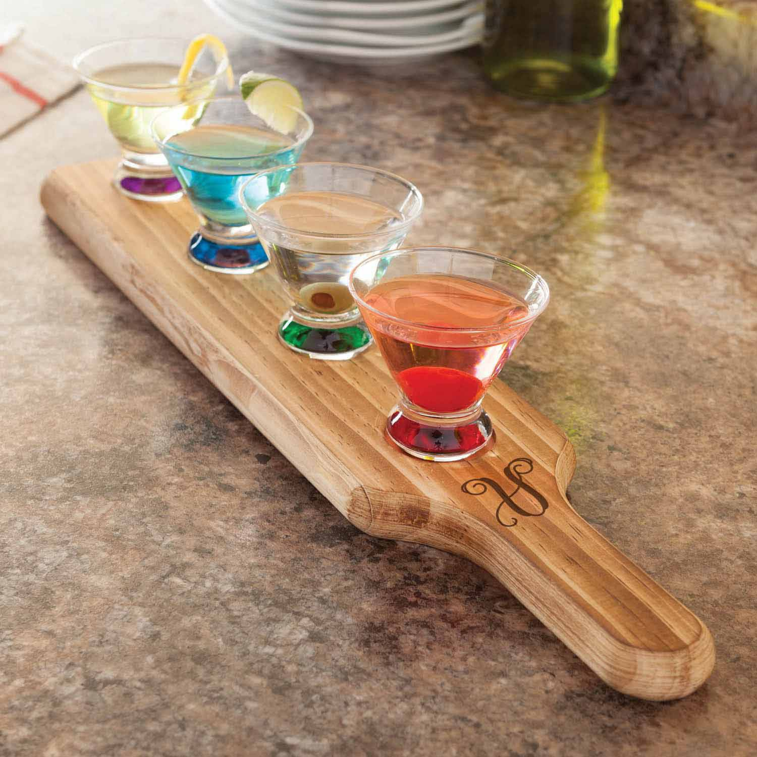 Personalized Script Initial 5-Piece Tasting Set