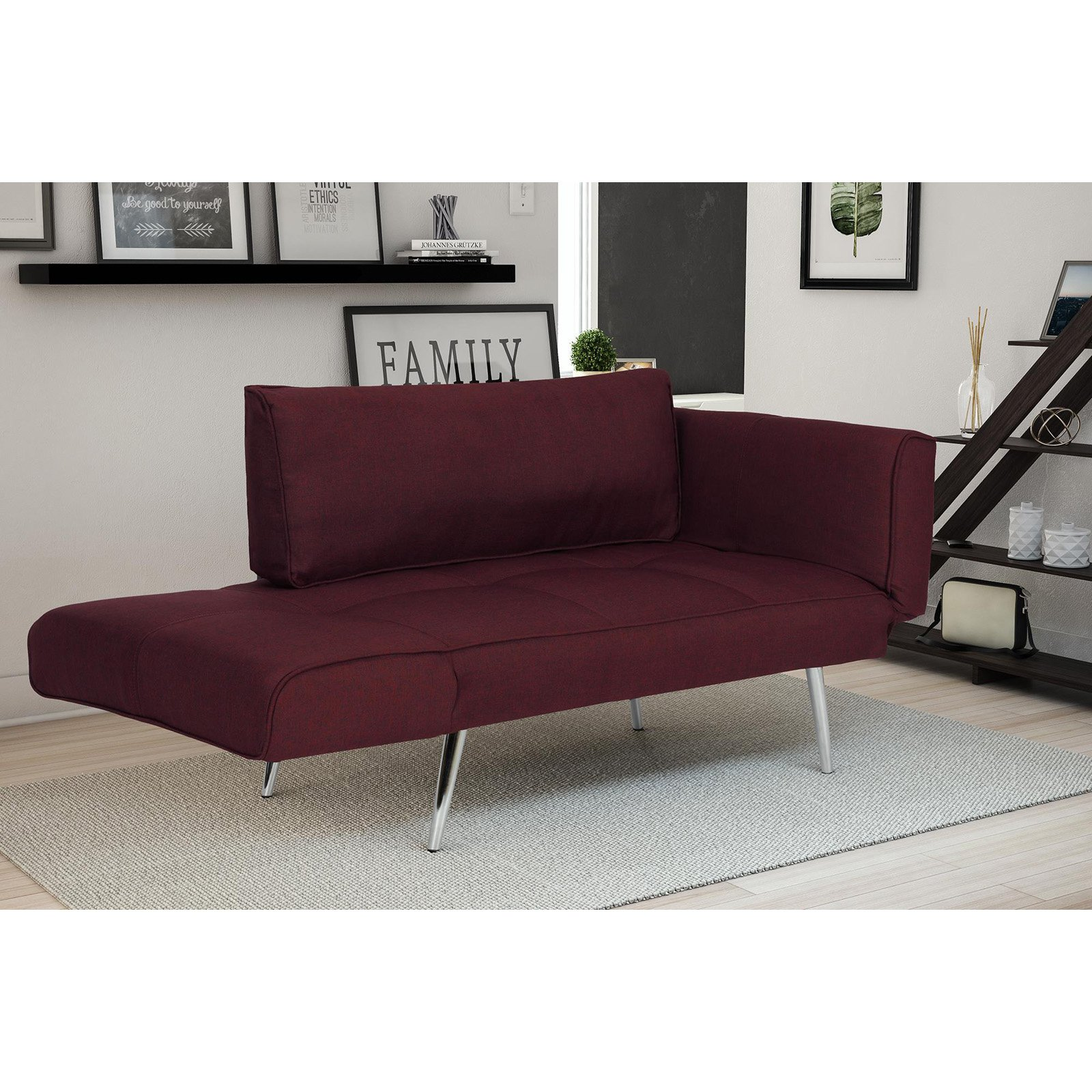 DHP Euro Linen Convertible Futon Multiple Colors Walmart