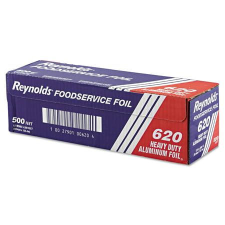 """Reynolds Wrap Heavy Duty Aluminum Foil Roll, 12"""" x 500 ft, Silver"""