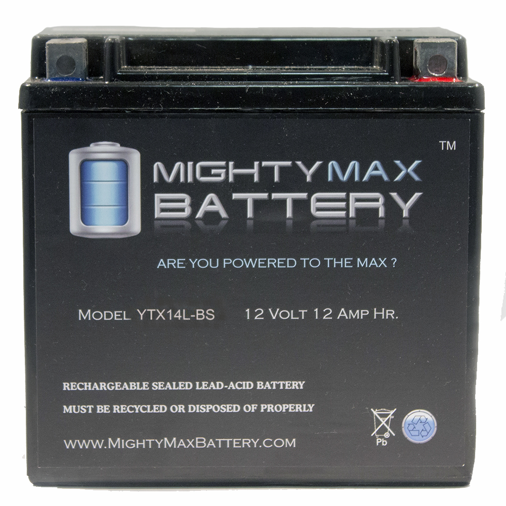 YTX14L-BS Battery for Harley-Davidson 1200CC XL, XLH (Sportster) 2011