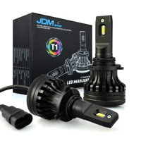 JDM ASTAR Newest Version T1 10000 Lumens Extremely Bright High Power 9012 All-in-One LED Headlight Bulbs Conversion Kit, Xenon White