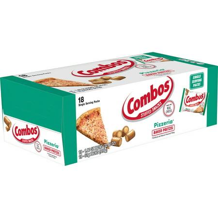 Combos Pizzeria Pretzel Baked Snacks, 1.8 Ounce Bags, 18 Count Box