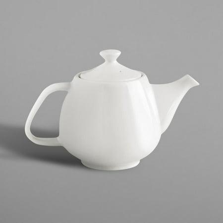 RAK Porcelain NNTP40 Nano 13.6 oz. Ivory Porcelain Teapot and Lid - 4/Case - image 1 de 1