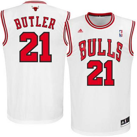 9e278365b Men s adidas Jimmy Butler White Chicago Bulls Replica Jersey ...