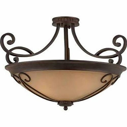 Lumenno Budapest Collection 4-light Bronze Semi Flush Mount