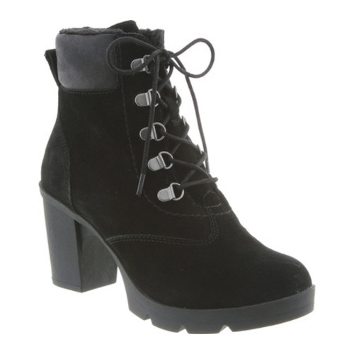 Bearpaw Marlowe Lace-Up Ankle Boot(Women's) -Hickory/Chocolate Suede