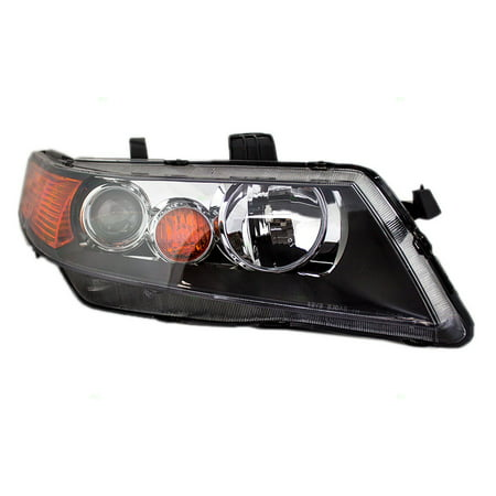 Passengers HID Headlight Headlamp Lens w/ Black Housing Replacement for Acura TSX 33101SECA12 Acura Tsx Headlight Assembly