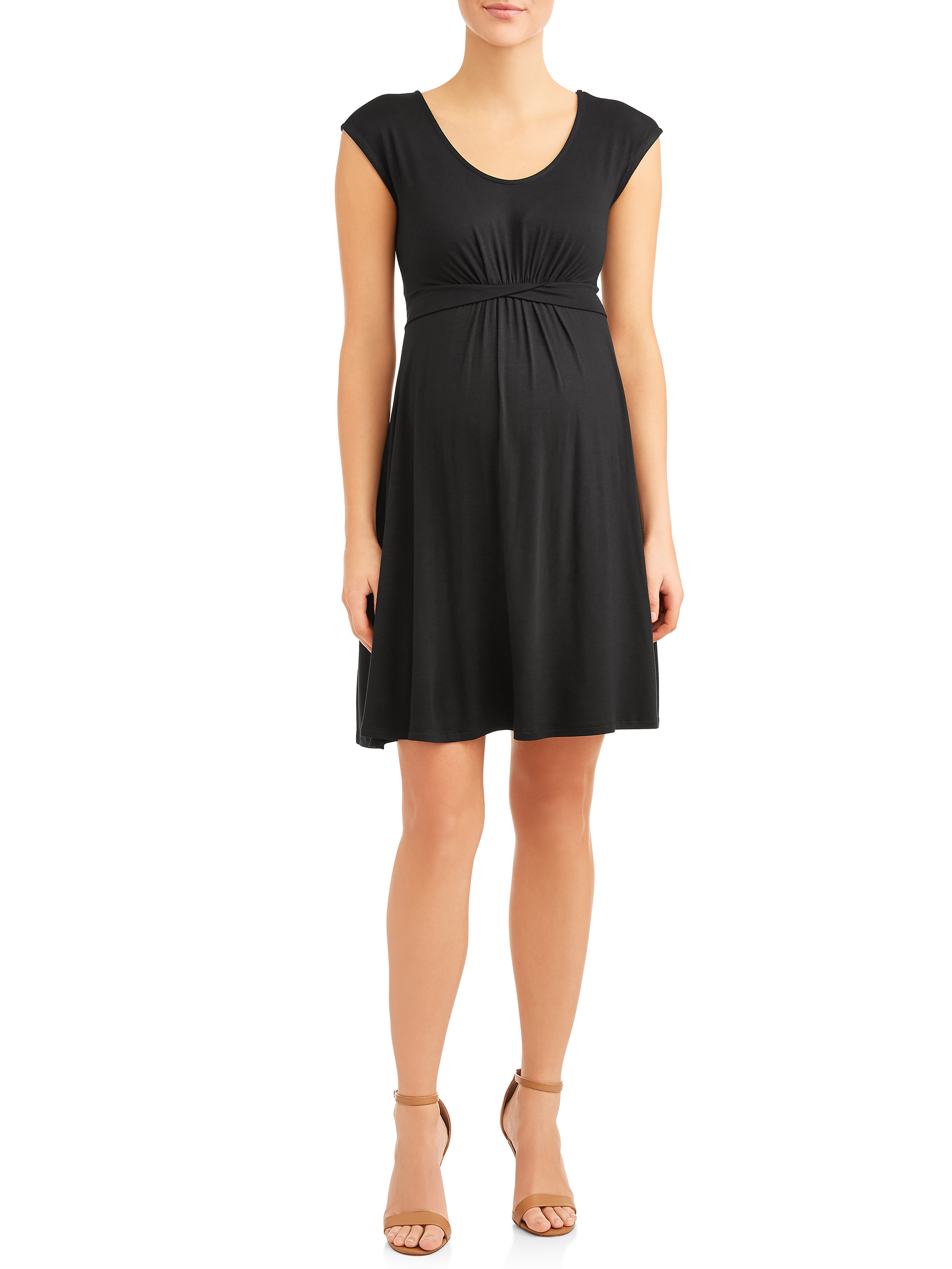 Maternity Twisted Waist Banded Dress