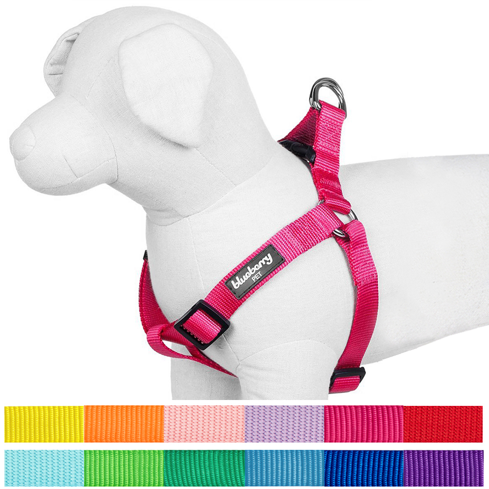 """Blueberry Pet Step-in Classic Dog Harness, Chest Girth 26"""" - 39"""", Rouge Red, Large"""