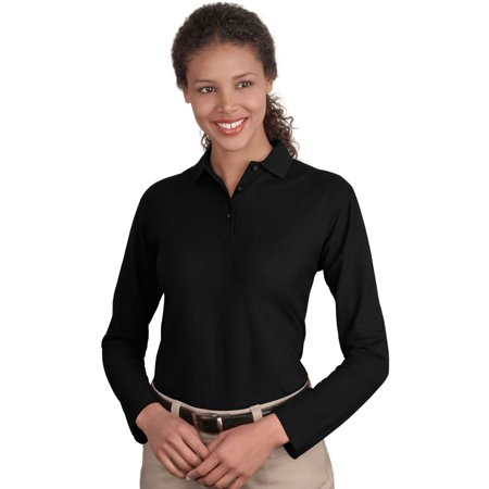 Port Authority Women's Flat Knit Collar 3-Button Polo Shirt (Sports Authority Kennesaw)