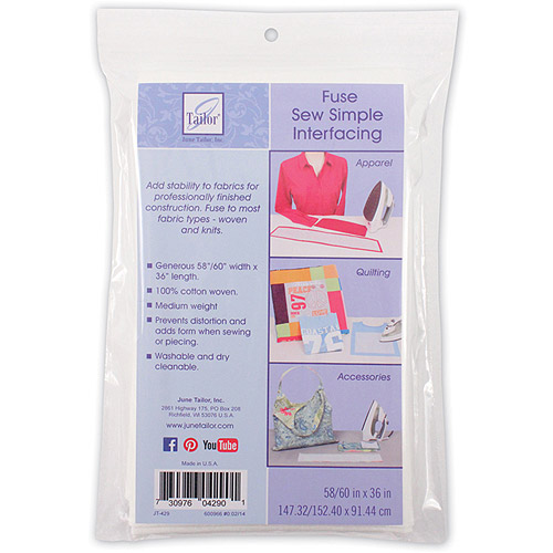 "Sew Simple Fusible Interfacing, 58/60"" x 36"""