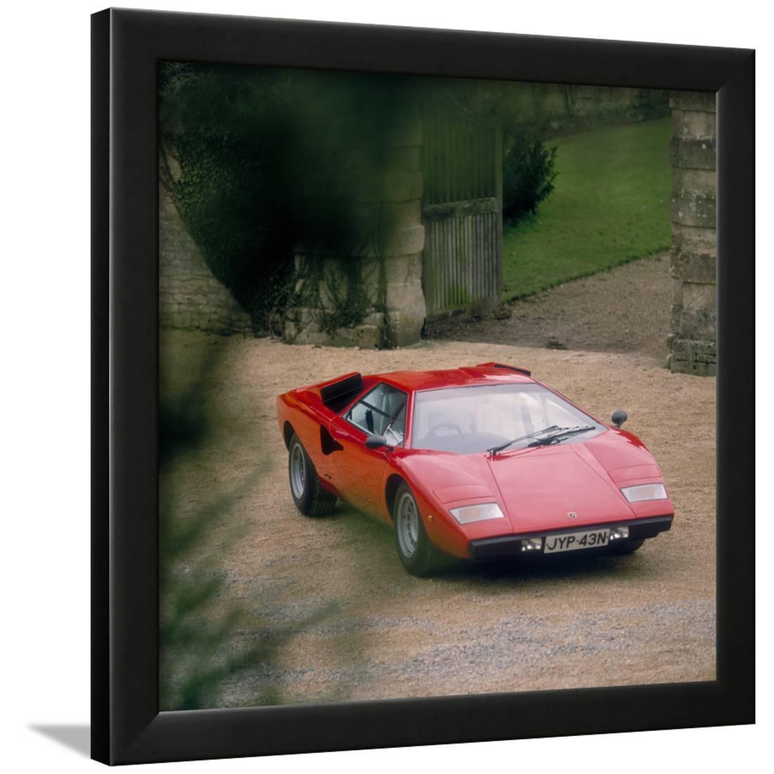1974 Lamborghini Countach Framed Print Wall Art Walmart Com