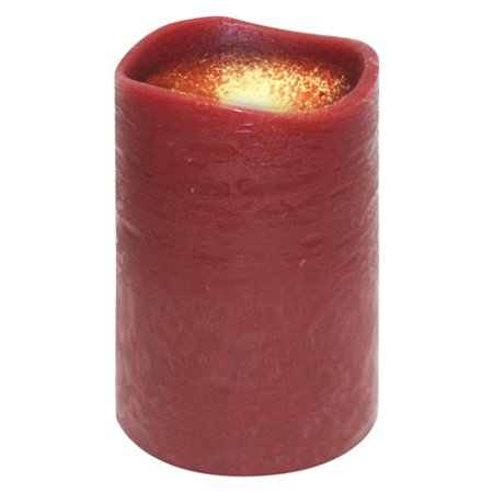 """4"""" Dark Red Battery Operated Flameless Flickering Wax ..."""