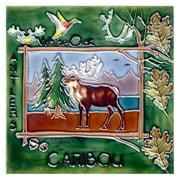Continental Art Center Art Tile - Moose Facing Left