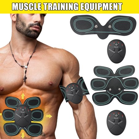 2 Choices Remote Control Abdominal Muscle Trainer Smart Abs Stimulator Body Building Fitness Fat Reducing For Abdomen/Arm/Leg/Hip Training Portable Fitness Equipment (with a
