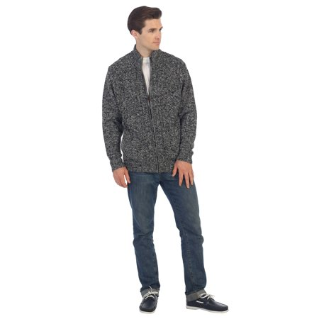 - Gioberti Mens Cardigan Twisted Knit Full-Zipper Sweater