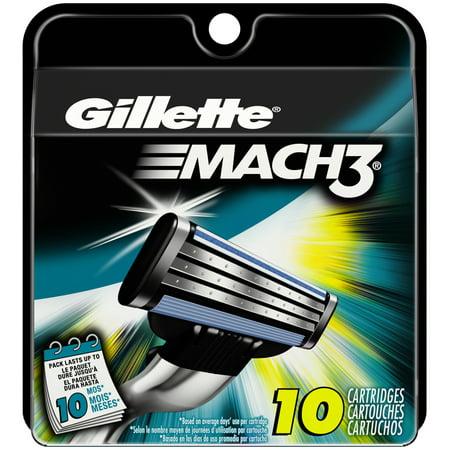 Gillette Mach3 Mens Razor Blade Refills  10 Count