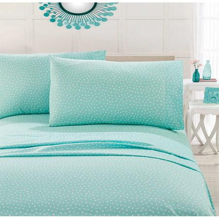 Your Zone Polka Dots Microfiber Sheet Set, Multiple - Polka Dot Bed Sheets