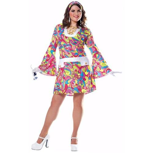 Francoamerican Novelty Company FR48251PL-XL Groovy Chic Adult Plus Costume Size X-Large
