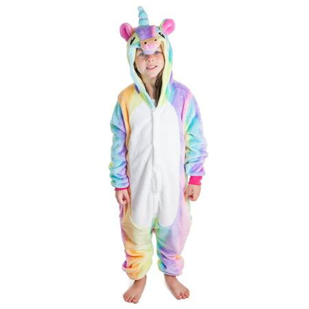 a2e20f69dc44 Simplicity - Kids Animal Unicorn Pajama Onesie Pegasus Rainbow S -  Walmart.com