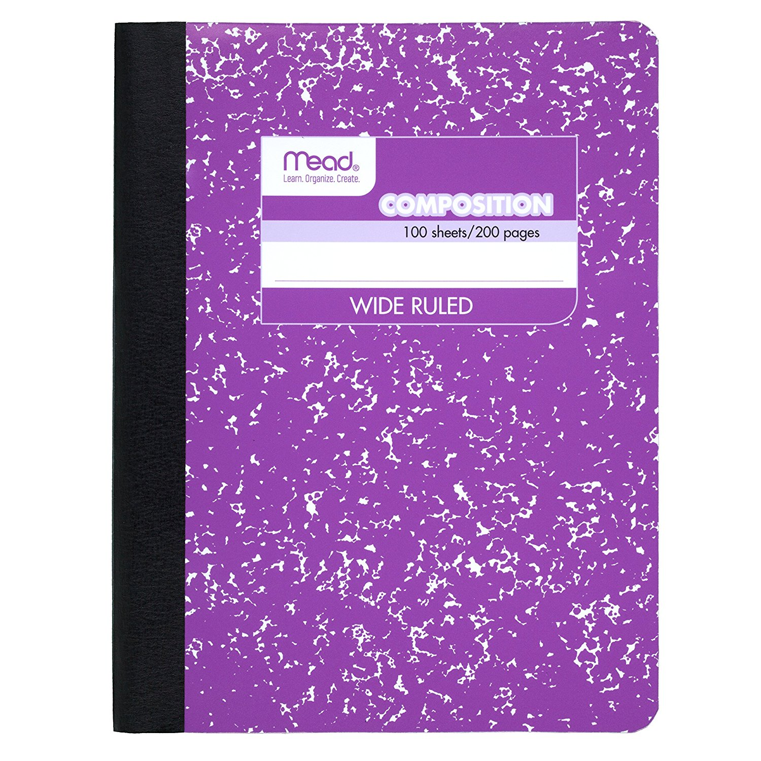 """Mead Composition Notebook, Wide Ruled, 100 Sheets (200 Pages), 9-3/4"""" x 7-1/2"""""""