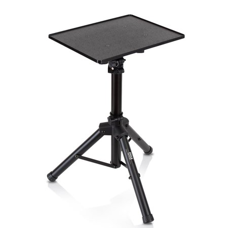 Computer Rack Mounting Equipment - PYLE PLPTS2 - Universal Device Stand - Height Adjustable Tripod Mount (For Laptop, Notebook, Mixer, DJ Equipment)
