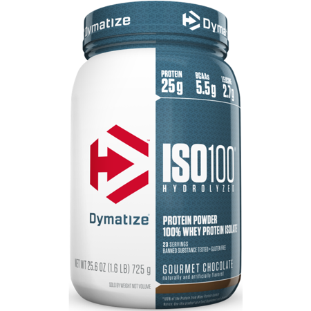 Dymatize ISO 100 Hydrolyzed 100% Whey Protein Isolate Powder, Gourmet Chocolate, 25g Protein, 1.6