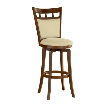 Traditional Jefferson Cherry (Hillsdale Jefferson 30 in. Swivel Bar Stool - Brown Cherry )