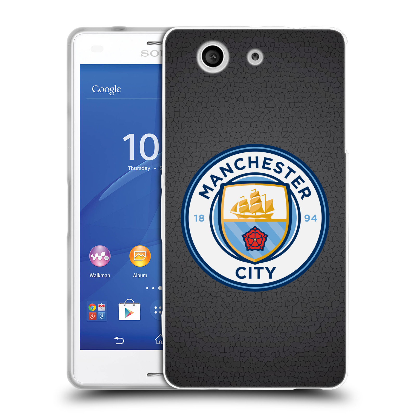 OFFICIAL MANCHESTER CITY MAN CITY FC BADGE PIXELS SOFT GEL CASE FOR SONY PHONES 1