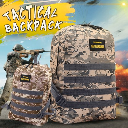 Polyester Large Roll Bag (Large Capacity Canvas Polyester Sport Backpack Jedi Survival Eat Chicken Tactical Camouflage Satchel Army Tactical Bag )